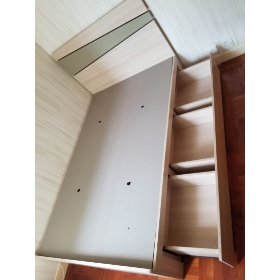 * 4 FOOT DOUBLE BED(3 DRAWERS)