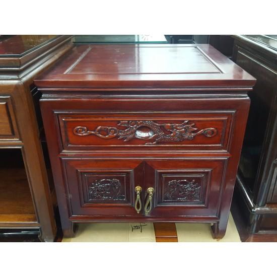Rosewood Cabinet with 1 door + 2 drawers