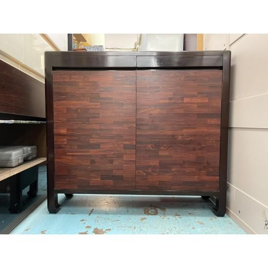 Ebony storage cabinet / shoe cabinet