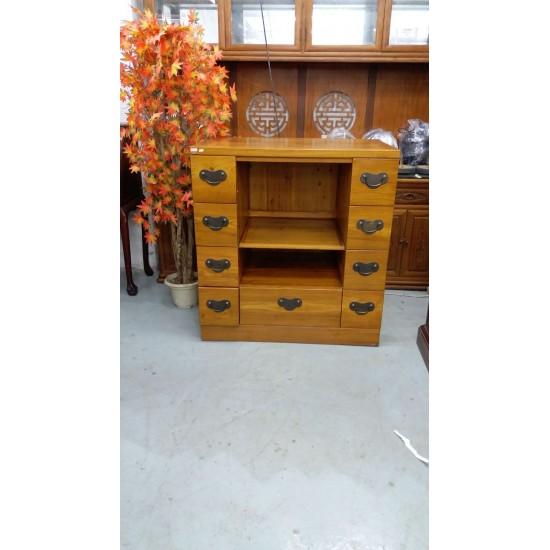 Elm wood storage cabinet