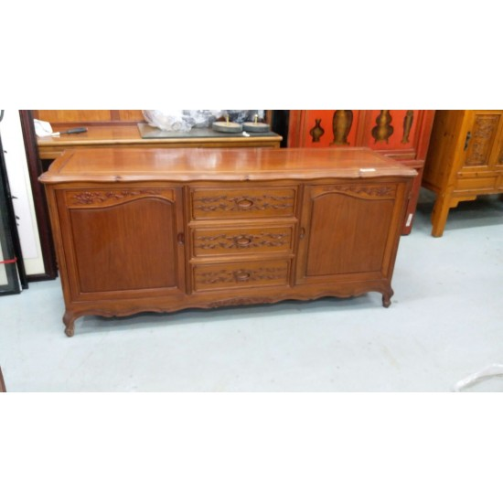 Rosewood TV Cabinet with 2 doors + 3 drawers