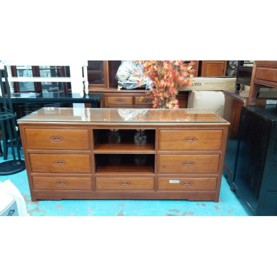Rosewood TV Cabinet with 2 drawers