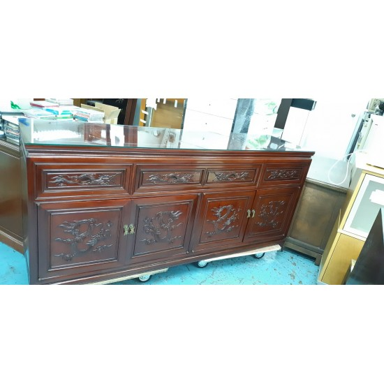 Rosewood Chest of 4 drawers + 4 doors