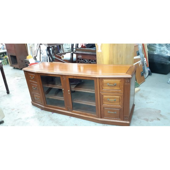 Rosewood cabinet with 3 doors + 3 drawers