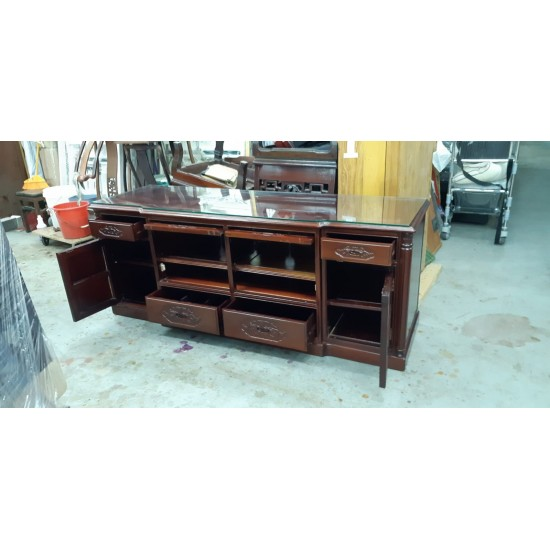 Rosewood cabinet with 4 doors + 4 drawers
