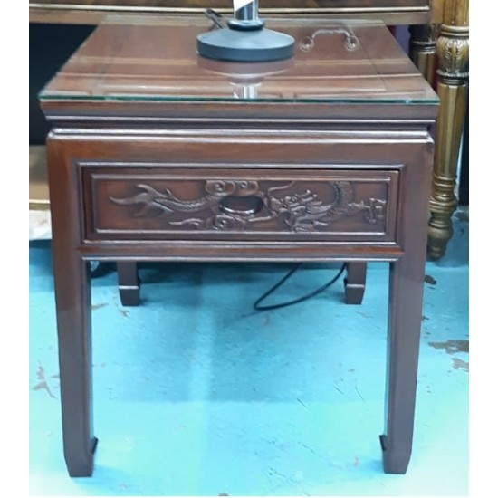 Rosewood coffee table with 1 drawer