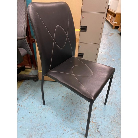 Black Leather Chair (SOLD)