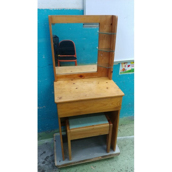 Pine wood dressing table (55% New)